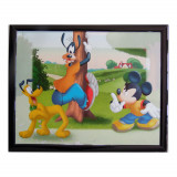 Tableau Mickey 20 x 25 cm Disney cadre enfant Pluto et Dingo