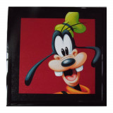 Tableau Dingo Disney Mickey cadre 23 x 23 cm