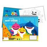 Cahier de dessin Baby Shark livre de coloriage A4 + Stickers autocollant