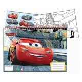 Cahier de dessin, livre de coloriage A4 + Stickers Cars