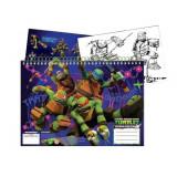 Cahier de dessin, livre de coloriage A4 + Stickers Les Tortues Ninja