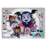 Cahier de dessin Vampirina livre de coloriage Stickers Regle Pochoir Album