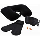 Coussin protege nuque masque de nuit bouchon oreille chaussette voyage