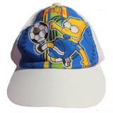 Casquette Bart Simpsons Taille 52 Disney blanc enfant