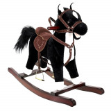 Cheval a bascule Sonore jouet enfant bebe noir