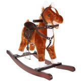 Cheval a bascule Sonore jouet enfant bebe marron