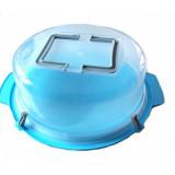 Cloche à gâteau 30 cm transport tarte poignée boite