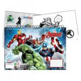 Cahier de dessin Les Avengers livre de coloriage A4 + Stickers autocollant