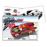 Cahier de dessin Cars livre de coloriage A4 + Stickers autocollant