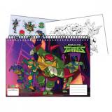 Cahier de dessin Tortue Ninja livre de coloriage A4 + Stickers autocollant