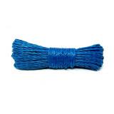 Corde polypropylène 30 m linge etendoir camping jardin garage bleu