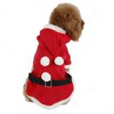 Veste pour chien Père Noël déguisement manteau Taille S