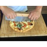 Hachoir a main berceuse cuisine couteau legume oignon pizza bois