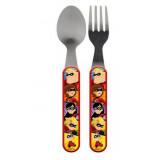 Couvert cuillère et fourchette Les Indestructibles Disney enfant bébé metal