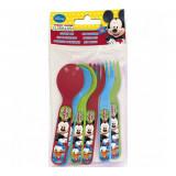 Ensemble 6 pièces Mickey ( 3 cuillère + 3 fourchette ) Disney couvert bébé enfant