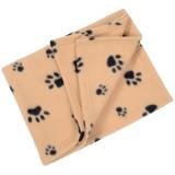 Couverture polaire, plaid pour chien chat 70 x 70 cm panier, corbeille, voiture, canapé beige