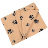 Couverture polaire, plaid pour chien chat 120 x 80 cm panier, corbeille, voiture, canapé beige