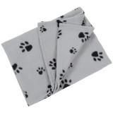 Couverture polaire, plaid pour chien chat 70 x 70 cm panier, corbeille, voiture, canapé gris