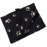 Couverture polaire, plaid pour chien chat 70 x 70 cm panier, corbeille, voiture, canapé noir
