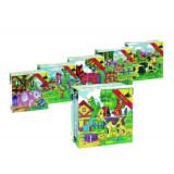 Puzzle cube, les animaux de la ferme, enfant bébé