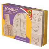 Boite de 12 dominos en bois animaux jouet