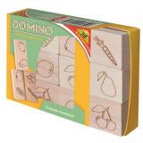 Boite de 12 dominos en bois fruits jouet
