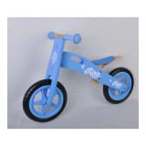 Draisienne en bois vélo sans pédale fille bleu ciel