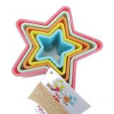 Set de 5 emporte pièces étoile gateau cookies patisserie forme plastique