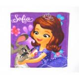 1 serviette Disney, Princesse Sofia essuie main 30x30cm coton ecole