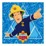 1 serviette Disney Sam le Pompier essuie main 30x30cm ecole