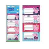 20 étiquette Peppa Pig Disney cahier enfant ecole
