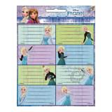 Lot de 16 étiquette La Reine des Neiges Disney cahier enfant ecole
