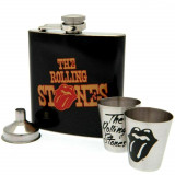 Coffret cadeau Rolling Stones The Tongues flasque verre shot entonnoir acier