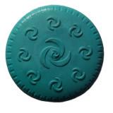 Frisbee pour chien, jouet caoutchouc bleu