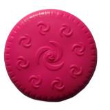 Frisbee pour chien, jouet caoutchouc rose