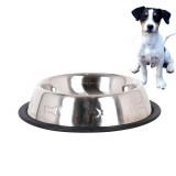 Gamelle pour chien 26 cm antiderapent acier inoxydable