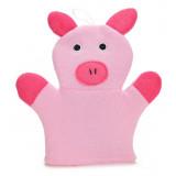 Gant de toilette cochon enfant bébé