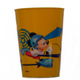 Gobelet Mickey Mouse Disney verre plastique enfant jaune