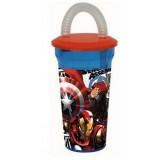 Gobelet avec paille Avengers verre plastique Casa B