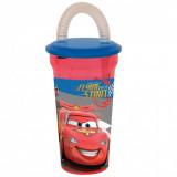 Gobelet + paille Cars Disney verre plastique enfant