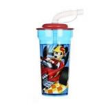 Gobelet avec paille Mickey verre plastique Casa