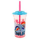 Gobelet avec paille My Little Pony verre plastique