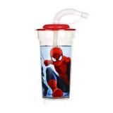 Gobelet avec paille Spiderman verre plastique Casa