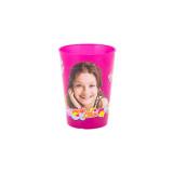 Gobelet Soy Luna Disney verre plastique enfant violet