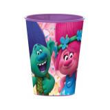 Gobelet Les trolls Disney verre plastique enfant violet