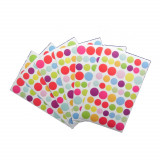 324 gommette stickers rond multicolore