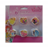 Lot de 6 gomme Princesse Disney enfant