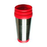 Gourde isotherme 500 ml acier tasse froid chaud voyage rouge alu