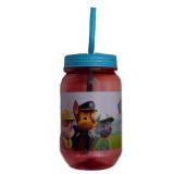 Gourde avec paille La pat Patrouille verre plastique Disney