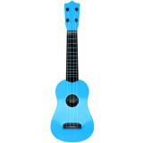Guitare acoustique folk 57 cm 4 cordes enfant jouet bleu